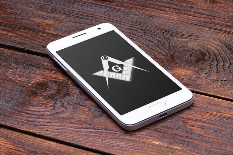 Masons seal, mobile phone
