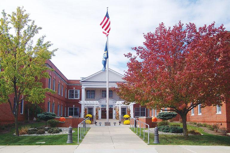Exterior of Jack F. Sanders Healthcare Center building